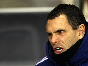 Photo - Sunderland's manager Gus Poyet shouts ahead of their English Premier League soccer match against Stoke City at the Stadium of Light, Sunderland, England, Wednesday, Jan. 29, 2014. (AP Photo/Scott Heppell)