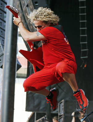 Photo - Sammy Hagar performs during the Oklahoma Twister Relief Concert, benefiting victims of the May tornadoes, at Gaylord Family - Oklahoma Memorial Stadium at the University of Oklahoma in Norman. Photo by Nate Billings, The Oklahoman <strong>NATE BILLINGS - NATE BILLINGS</strong>