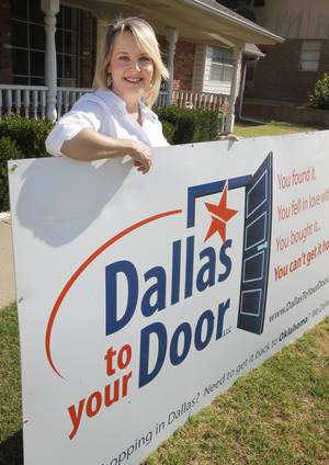 Photo - Kellye Kamp founded Dallas to your Door, a company that shops in Dallas for clients and delivers to the Oklahoma City metro. <strong>PAUL HELLSTERN - The Oklahoman</strong>