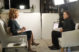 "Photo - This June 22, 2014 photo provided by ABC shows Barbara Walters, left, during an interview in Los Angeles with Peter Rodger, the father of Elliot Rodger, the 22 year old who killed six people, injured 13, before taking his own life near the campus of the University of California, on May 23, in Santa Barbara, Calif. The interview will air on a special edition of ""20/20"" airing Friday, June 27, at 10 pm ET. (AP Photo/ABC, Rick Rowell)"