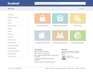 photo -   This image provided by facebook shows the website&#039;s redesigned help center, developed to make it easier to navigate and find what you need help with on the site or its mobile applications. Though it&#039;s only fully accessible on Facebook&#039;s website, the new help center was designed to look and feel more like a mobile app, says Terry Guo, product manager at the Menlo Park, California-based social media company. ( AP Photo/Facebook)  