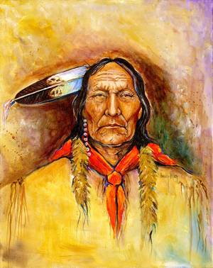 "Photo - ""Chief Magpie"" by Harvey Pratt. <strong></strong>"