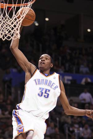 photo - Kevin Durant knows playing for a winning team will help his chances of being named to the All-Star squad Photo BY HUGH SCOTT, THE OKLAHOMAN