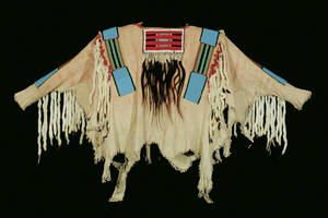 Photo -   This photo released by the Coeur D'Alene Art Auction shows a war shirt worn by Chief Joseph of Nez Perce tribe that sold for $877,500 at auction.)AP Photo/Coeur D'Alene Art Auction, Michael Scott)