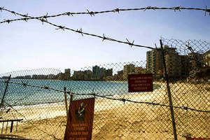 Photo - FILE - This April 14, 2005 file photo shows a general view of the Greek Cypriot sector of the Turkish-occupied town of Famagusta in east Cyprus. (AP Photo/Harun Ucar, File)