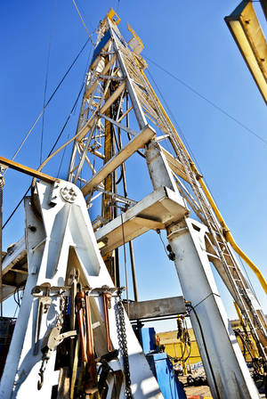 Photo - A Continental Resources rig is shown in Chickasha.
