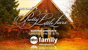 """Photo - This image released by ABC Family shows a still from a promotional item for the series """"Pretty Little Liars,"""" featuring a hashtag WhoShotEzra, promoting a recent storyline. According to Social Guide, owned by Nielsen, """"PLL,"""" as it's known to fans, consistently ranks as one of the most Tweeted about shows while new episodes are airing. While some critics argue the second screen experience of looking at a device while a show is airing detracts from the viewing experience, networks have a different perspective, saying it helps and doesn't hurt. (AP Photo/ABC Family)"""