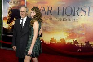 "Photo - Steven Spielberg and his daughter Destry Allyn Spielberg attend the world premiere of ""War Horse"" in New York on Dec. 4. AP PHOTO"