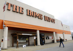 """Photo - This Aug. 14, 2012 file photo shows a Home Depot store in Nashville, Tenn. On Tuesday, Sept. 2, 2014, the home improvement retailer said that it's looking into """"unusual activity"""" and that it's working with both banks and law enforcement after suspicions of a credit card data breach. (AP Photo/Mark Humphrey)"""