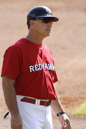 Photo - RedHawks manager Tony DeFrancesco's teams are a combined 175 games above .500. Photo by Paul Hellstern, The Oklahoman