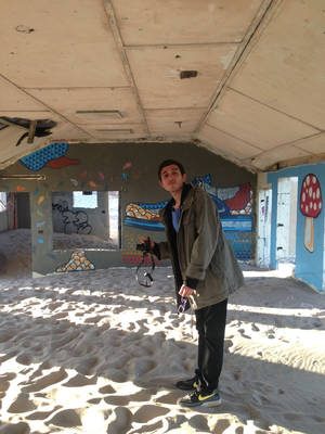 Photo - This undated photo of Argentinian artist Adrian Villar Rojas at Adapted Aquatics, Fort Tilden, NY, is provided by the Museum of Modern Art, MoMA PS1, in New York,  Friday, June 27, 2014. New York's Rockaway peninsula is the site of an arts festival featuring singer-songwriter Patti Smith and other artists. The free Rockaway! festival, conceived by Smith and Rockaway resident Klaus Biesenbach, director of MoMA PS1, celebrates the reopening of Fort Tilden, a former U.S. Army installation that's part of Gateway National Recreation Area. It opens Sunday June 28, 2014 and runs through Sept. 1, 2014. (AP Photo/Museum of Modern Art)