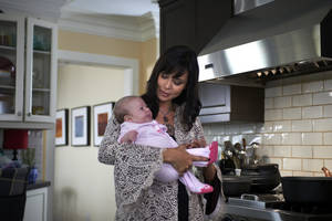 Photo - Catherine Bell is back to her bewitching ways as Good Witch Cassie Nightingale, but this time she's also juggling a newborn daughter and her job as town mayor. Photo provided
