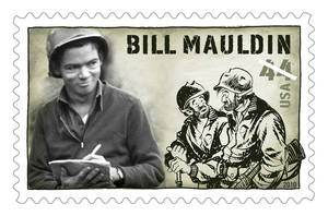 Photo - This stamp honoring Bill Mauldin will be on sale in March.  Provided by U.S. Postal Service