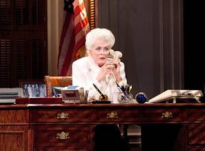 "Photo - This theater image released by The Hartman Group shows Holland Taylor as former Texas Gov. Ann Richards during a performance of ""Ann.""   (AP Photo/The Hartman Group)"