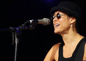 photo - BYRON BAY, AUSTRALIA - APRIL 25:  Michelle Shocked performs on stage during day five of the Bluesfest Music Festival at Tyagarah Tea Tree Farm on April 25, 2011 in Byron Bay, Australia.  (Photo by Mark Metcalfe/Getty Images)