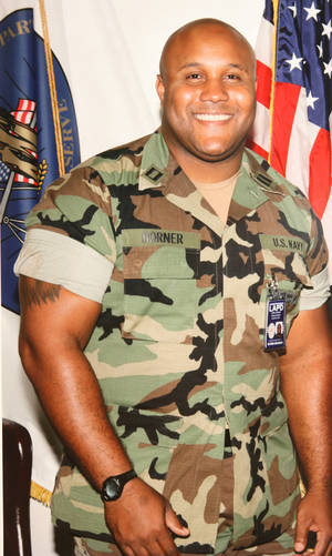 "photo - This undated photo released by the Los Angeles Police Department shows suspect Christopher Dorner, a former Los Angeles officer.  Dorner, who was fired from the LAPD in 2008 for making false statements, is linked to a weekend killing in which one of the victims was the daughter of a former police captain who had represented him during the disciplinary hearing. Authorities believe Dorner opened fire early Thursday on police in cities east of Los Angeles, killing an officer and wounding another.  Police issued a statewide ""officer safety warning"" and police were sent to protect people named in the posting that was believed to be written by Dorner.  (AP Photo/Los Angeles Police Department)"