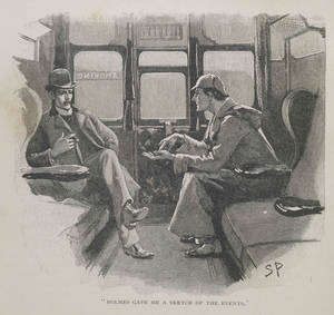"Photo - This image made available by the Museum of London shows the illustration The Adventure of the Silver Blaze - ""Holmes gave me a sketch of the events"", from the Strand magazine Vol iv.1892, page 646. The Museum of London on Tuesday May 20, 2014 announced an exhibition devoted entirely to the detective, from Arthur Conan Doyle's hand-written manuscripts to the coat worn by Benedict Cumberbatch in the BBC series ""Sherlock."" It is the first time the museum devoted to London's history has held a show about a fictional character. (AP Photo/Museum of London)"