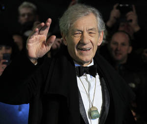 "Photo - FILE - In this Wednesday, Dec. 12, 2012 file photo, actor Ian McKellen arrives at the UK premiere of ""The Hobbit: An Unexpected Journey"" in  London. McKellen and 27 Nobel laureates have written an open letter urging Russia's president to repeal an anti-gay law. The letter — published Tuesday Jan. 14 2014 by the Independent newspaper — comes in the run-up to the Sochi Olympics, which have been the focus of a backlash in the West regarding the law.(Photo by Joel Ryan/Invision/AP, File)"