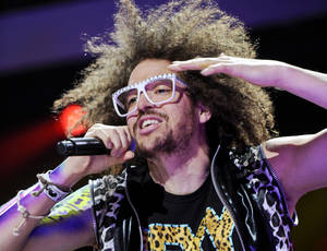 Photo -   FILE - This Dec. 9, 2011 file photo shows singer RedFoo of LMFAO performing at Z100's Jingle Ball concert at Madison Square Garden in New York. Redfoo is still party rocking, but these days, he's doing it without his partner-in-fun, Sky Blu. Redfoo says he and Sky Blu _ who is also his nephew _ are taking a break as they focus on their own interests, personally and professionally. (AP Photo/Evan Agostini, file)