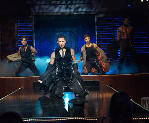 "Photo - Channing Tatum, second from left, stars in ""Magic Mike."" <strong>Claudette Barius</strong>"