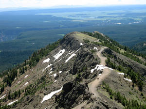 Photo - This July 2011 photo shows the view from Mount Washburn in Yellowstone National Park in Wyoming. The trail to the top takes hikers 1,400 feet to an elevation of 10,243 feet. (AP Photo/Anick Jesdanun)