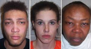 Photo - From left to right, Marcus Trinidad Mitchell, 23; Ashley Ann Williamson Mitchell, 24; and Juanachellee Lanyl Fitch, 48. Photo courtesy tulsaworld.com