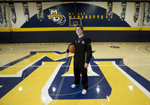 Photo - FILE - In this Dec. 3, 2012, file photo, Marquette assistant women's NCAA college basketball coach Tyler Summitt poses for a picture in Milwaukee. Louisiana Tech has hired the 23-year-old Summitt, son of former Tennessee coach Pat Summitt, to take over the Lady Techsters. Summitt, who'll turn 24 in September, has not yet been a head coach in his fledgling career. He's spent the past two seasons as an assistant coach at Marquette. (AP Photo/Morry Gash, File)