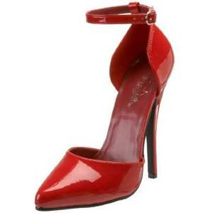 Photo - For a similar pair of ankle-strap heels, try the Pleaser women's Domina 402 pump for $59.95 from Endless.com. (Courtesy Endless.com via Los Angeles Times/MCT)