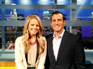 "Photo - Allie LaForce, left, and Doug Gottlieb will co-host ""Lead Off,"" which premieres at 11 p.m. Monday on the CBS Sports Network. Photo provided by CBS Sports Network"
