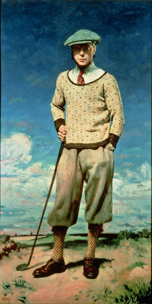 "Photo - William Orpen's (Irish, 1878?1931) 1927 portrait ""The Prince of Wales,"" depicting the future British King Edward VIII, is featured in the new special exhibition ""The Art of Golf"" at the Oklahoma City Museu of Art. Photo provided. <strong></strong>"