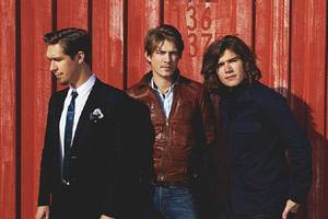 Photo - MUSIC / GROUP / BAND: Hanson, from left: Isaac, Taylor and Zac Hanson   PHOTO PROVIDED