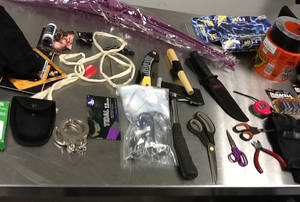 photo -   This image provided by the Los Angeles Police Department shows material seized from the luggage of Yongda Huang Harris while trying to enter the United States at Los Angeles International Airport. A detention hearing was held Friday Oct. 12, 2012 for Harris where he was remanded back into custody. (AP Photo/LAPD)
