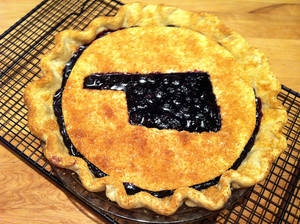 photo - Blueberry pie made in Oklahoma. <strong>SHERREL JONES - THE OKLAHOMAN</strong>