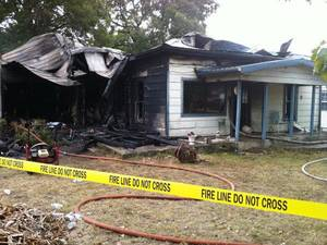 Photo - A Pontotoc County woman lost her life in a house fire in Allen Monday morning. <strong>Photo courtesry American Red Cro - Photo courtesry American Red Cro</strong>