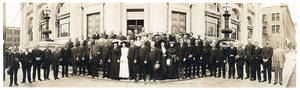 photo - Numerous individuals who participated in the 1889 Land Run gathered for this reunion photo in 1913. Photo provided <strong></strong>