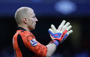 Photo - FILE - In this Nov. 17, 2012 file photo, Aston Villa's goalkeeper Brad Guzan looks on during a soccer match against in Manchester, England. Guzan, a standout in the English Premier League, would start for a number of World Cup teams. He'll be on the bench for the Americans, waiting for his turn behind veteran keeper Tim Howard. (AP Photo/Jon Super, File)