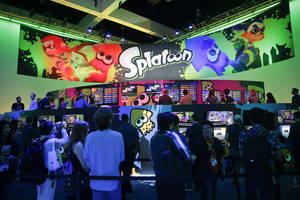 "Photo -  People wait in line to play the ""Splatoon"" video game at the Nintendo booth at the Electronic Entertainment Expo on Wednesday in Los Angeles. AP Photo  <strong>Jae C. Hong -  AP </strong>"