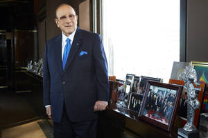 """Photo - This Feb. 18, 2013 photo shows  Sony Music Entertainment's Chief Creative Officer of and famous hitmaker Clive Davis posing for a portrait in New York. Davis' releases his memoir """"The Soundtrack of My Life,"""" on Tuesday. (Photo by Dan Hallman/Invision/AP)"""