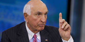 "Photo - Kenneth ""Ken"" Langone, co-founder of Home Depot Inc., speaks during a Bloomberg Television interview in New York, U.S., on Friday, April 26, 2013. Langone said that Jamie Dimon is one of the best U.S. business leaders and should keep his dual roles as JPMorgan Chase & Co. Chairman and Chief Executive Officer. Photographer: Jin Lee/Bloomberg via Getty Images"