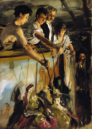 "Photo - This undated image provided by Sotheby's shows ""Marionettes,"" a rare painting by American artist John Singer Sargent. Painted in 1903, ""Marionettes"" could bring between $5 million and $7 million at Sotheby's May 22 sale in New York. (AP Photo/Sotheby's)"