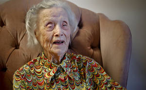 Photo - Ora Holland turned 113 on Tuesday  at Heritage Assisted Living Center in Oklahoma City.   Photo by Chris Landsberger, The Oklahoman <strong>CHRIS LANDSBERGER - CHRIS LANDSBERGER</strong>