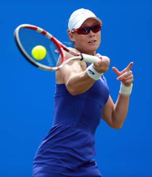 Photo - Australia's Sam Stosur in action against Christina McHale of the US during the Aegon Classic tennis tournament at Edgbaston Priory Club in Birmingham, England, Wednesday June 11, 2014. (AP Photo / David Davies, PA) UNITED KINGDOM OUT - NO SALES - NO ARCHIVES