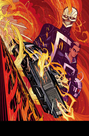 "Photo - The cover for ""All-New Ghost Rider"" No. 1. Marvel Comics image. <strong></strong>"