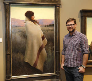 """Photo -  """"Silence and Sagebrush,"""" by artist Jeremy Lipking, is the Prix de West winner on Saturday at the National Cowboy and Western Heritage Museum in Oklahoma City. Photo by Paul Hellstern, The Oklahoman  <strong>PAUL HELLSTERN -  Oklahoman </strong>"""