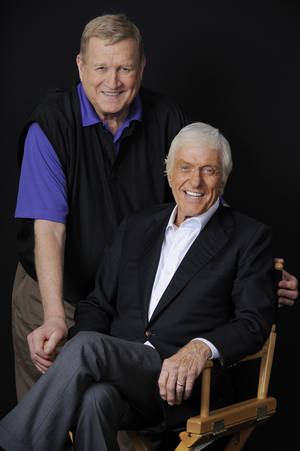Photo - FILE - In this Oct. 8, 2012 file photo, Actor Dick Van Dyke, right, poses for a portrait with Screen Actors Guild President Ken Howard, in Beverly Hills, Calif.  Van Dyke is the recipient of the Life Achievement Award at the upcoming 19th Annual SAG Awards ceremony on Jan. 27, 2013. Ahead of Sunday's Screen Actors Guild Awards, Van Dyke reflects on his seven decades in show business and the legacy he will leave behind. (Photo by Chris Pizzello/Invision/AP, File)