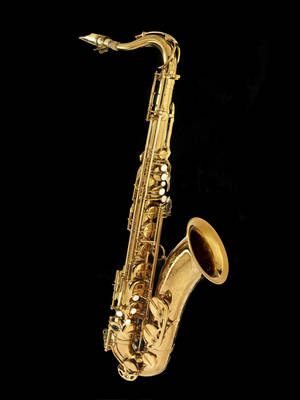 """Photo - This undated handout photo provided by the Smithsonian's National Museum of American History shows John Coltrane's Selmer Mark VI tenor saxophone, one of three principal saxophones Coltrane played. One of Coltrane's tenor saxophones is joining the jazz collection at the Smithsonian. Coltrane's son, Ravi Coltrane, will donate one of his father's three principal tenor saxophones to the National Museum of American History on Wednesday. The donation marks the 50th anniversary of John Coltrane's masterpiece composition """"A Love Supreme."""" (AP Photo/Hugh Talman, Smithsonian's National Museum of American History)"""