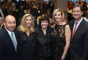 Photo - Bill Anoatubby, Becky Switzer, Freda Deskin, Mary Melon, Pete Delaney. PHOTO PROVIDED  <strong></strong>