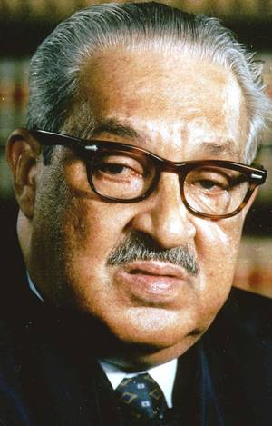 The late Thurgood Marshall, shown in this 1989 file photo, was a Prince Hall Mason and the first black member of the U.S. Supreme Court.