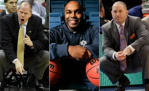 photo - Possible coaching candidates for OU. (From left to right): Colorado head coach Tad Boyle, University of Central Oklahoma head coach and former OU basketball player Terry Evans and Marquette coach and Oklahoma City University graduate Buzz Williams. (Archive Photos)