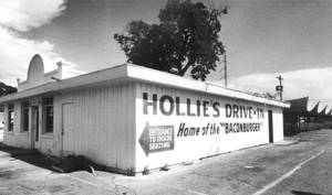 Photo - Hollie's Drive-In restaurant was a downtown favorite for decades. (Original photo taken 05/18/82, ran 05/20/82)